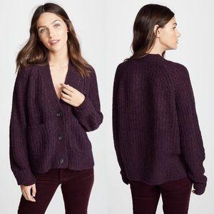 A.L.C. Cleveland Cardigan Deep Plum Sweater ALC XS